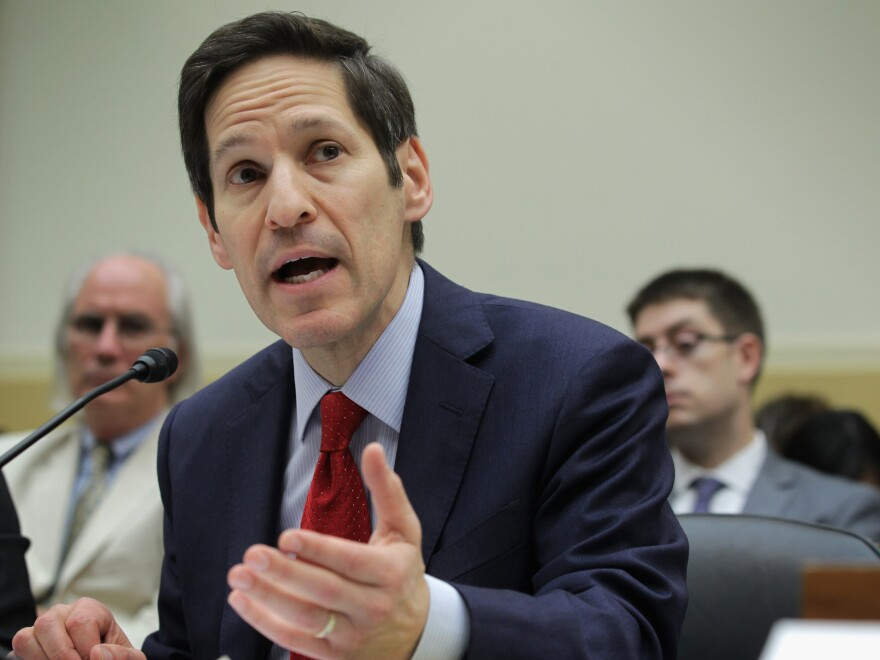 Dr. Tom Frieden, director of the CDC, testifies about the Ebola outbreak during a congressional hearing on Aug. 7.