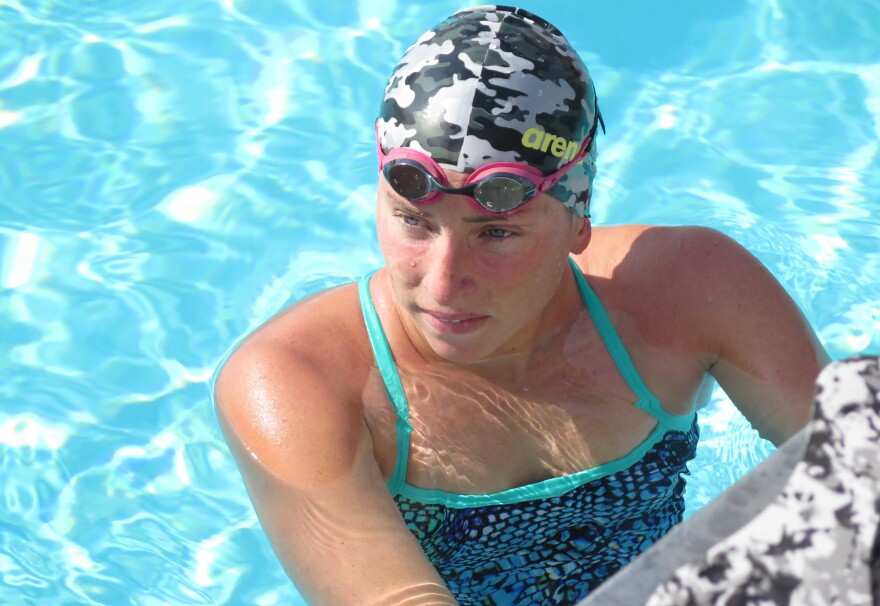 U.S. marathon swimmer Haley Anderson won a silver at the 2012 Olympics when she lost a sprint to the finish by four-tenths of a second. Anderson, 24, will be swimming the 6.2-mile race again in Rio, where much of the pre-race attention has focused on the polluted waters.
