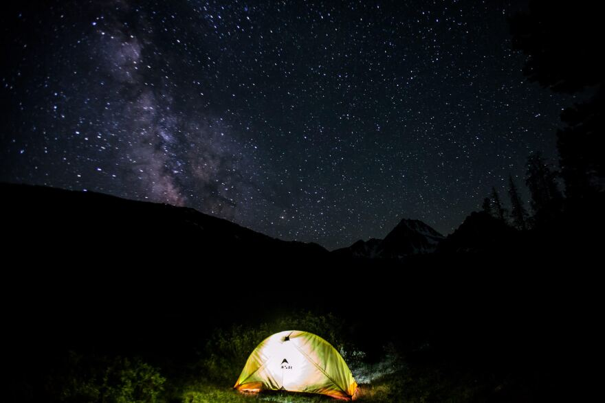 File photo: A tent in the Sawtooth Valley of Central Idaho.