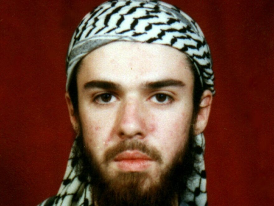 John Walker Lindh is shown at an Islamic school in Pakistan where he studied from 2000 to 2001.