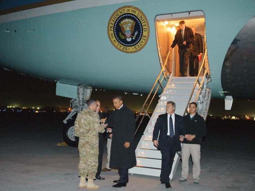 President Obama gets a chance to showcase his national security credentials during a surprise visit to Afghanistan on the anniversary of Osama bin Laden's death at the hands of the U.S. military.
