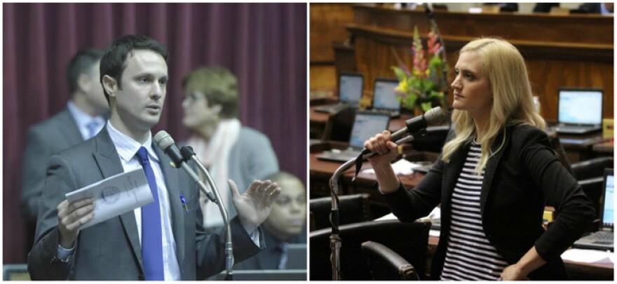 State Reps. Jon Carpenter, D-Kansas City, and Lauren Arthur, D-Kansas City