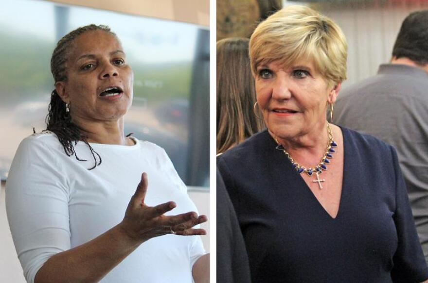 Incumbent Betsy Price (right) won the Fort Worth mayoral race with 56% of votes against challenger Deborah Peoples (left).