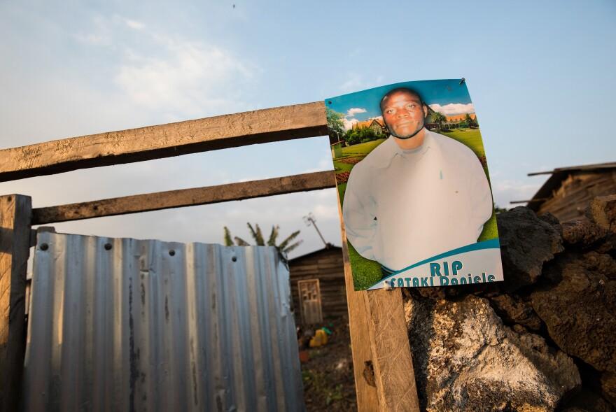 Esperance Nabintu posted this photo of her husband, Rene Daniele Fataki, who died of Ebola.