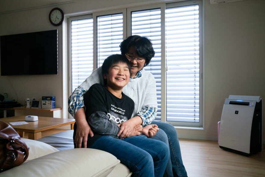 Chiyomi Endo lives with her 10-year-old son, Keiji, in a bright, sunny new house in Kyushu.