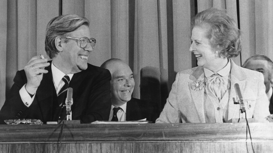 Helmut Schmidt, the former West German Chancellor, has died at age 96. He's seen here with British Prime Minister Margaret Thatcher at a 1979 news conference in London.