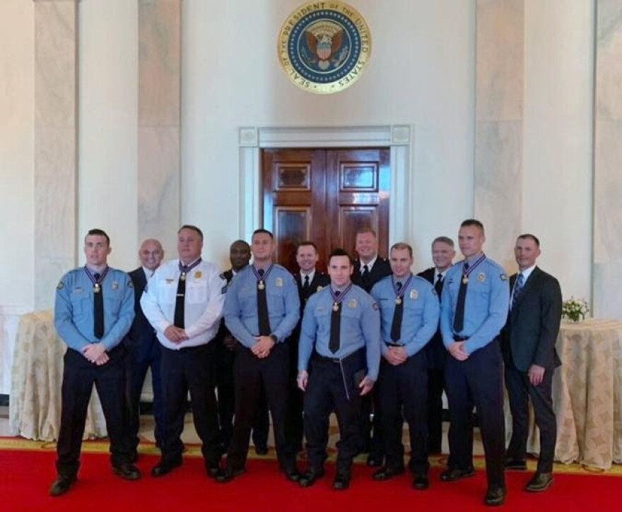 Six Dayton Police officers were honored at the White House on September 9.