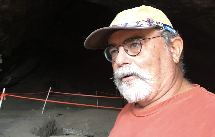 Ron Rood of Metcalf Archaeological Consultants leads tours of Danger Cave, which is considered one of the most important archaeological sites in the Great Basin. Detritus in the cave, which humans have frequented for more than 12,000 years, helps tell the story of how humans confronted climate change.