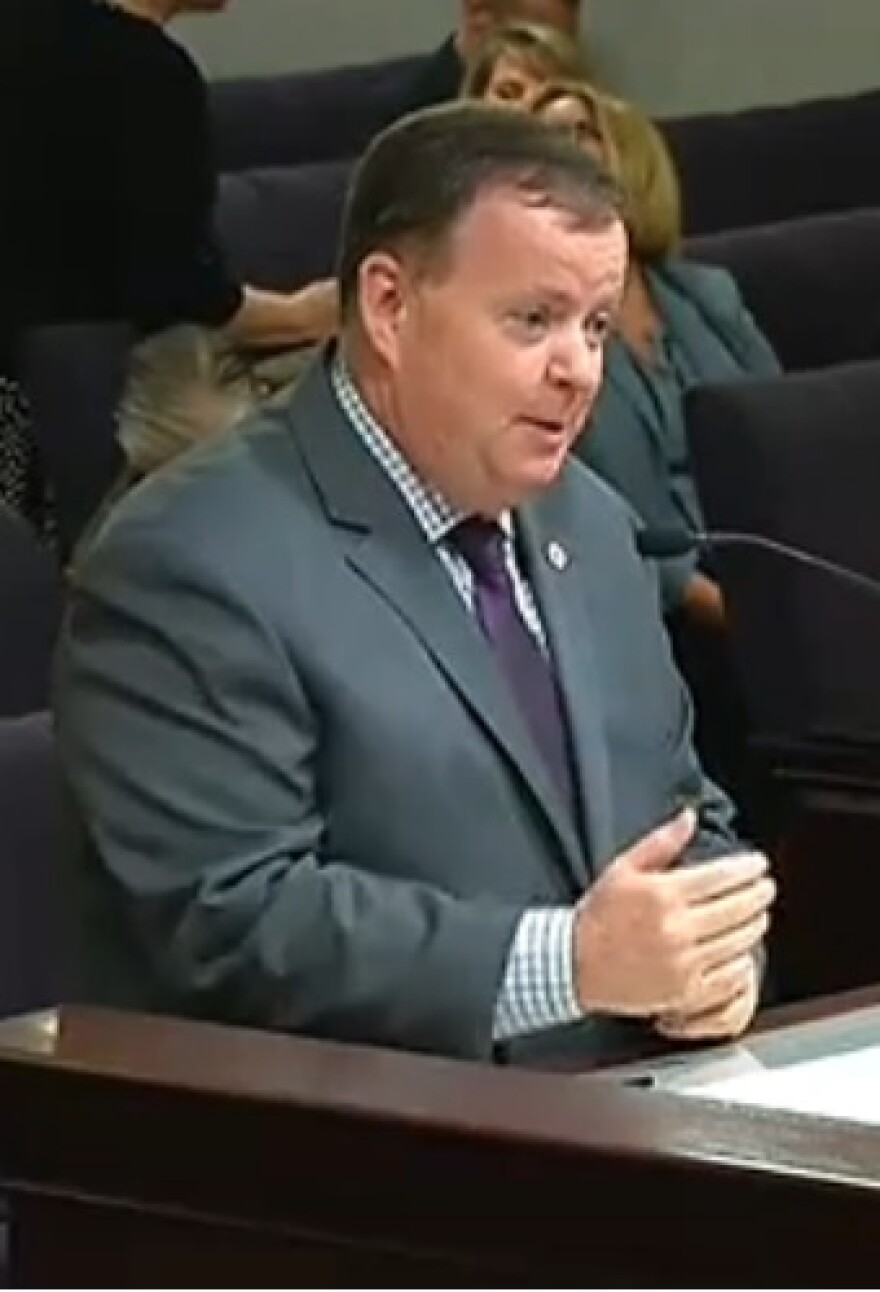 DCF Secretary Mike Carroll during a recent confirmation hearing in the Senate Children, Families, and Elder Affairs Committee Thursday.