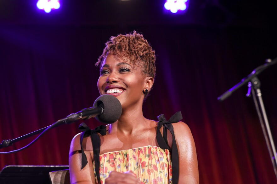 DeWanda Wise appears on <em>Ask Me Another</em> at the Bell House in Brooklyn, New York.
