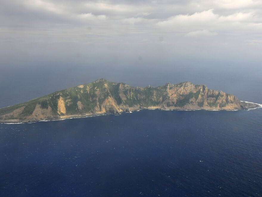 File photo from China's Xinhua News Agency, of one of the Senkaku/Diaoyu islands that are in dispute.