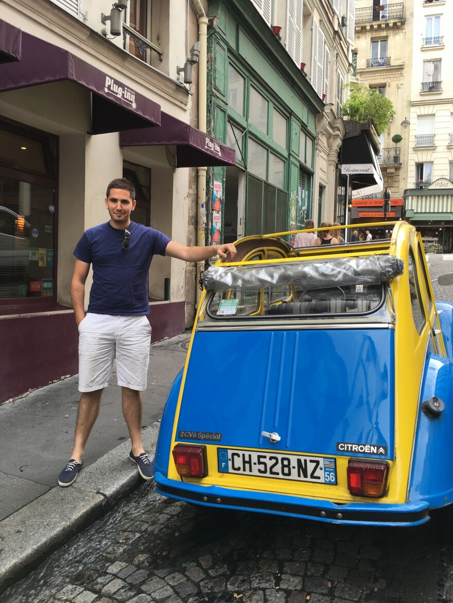 Marc Vernhet drives tourists around Paris in his Deux Chevaux. Because he uses his car for tourism, Vernhet is exempt from the ban.