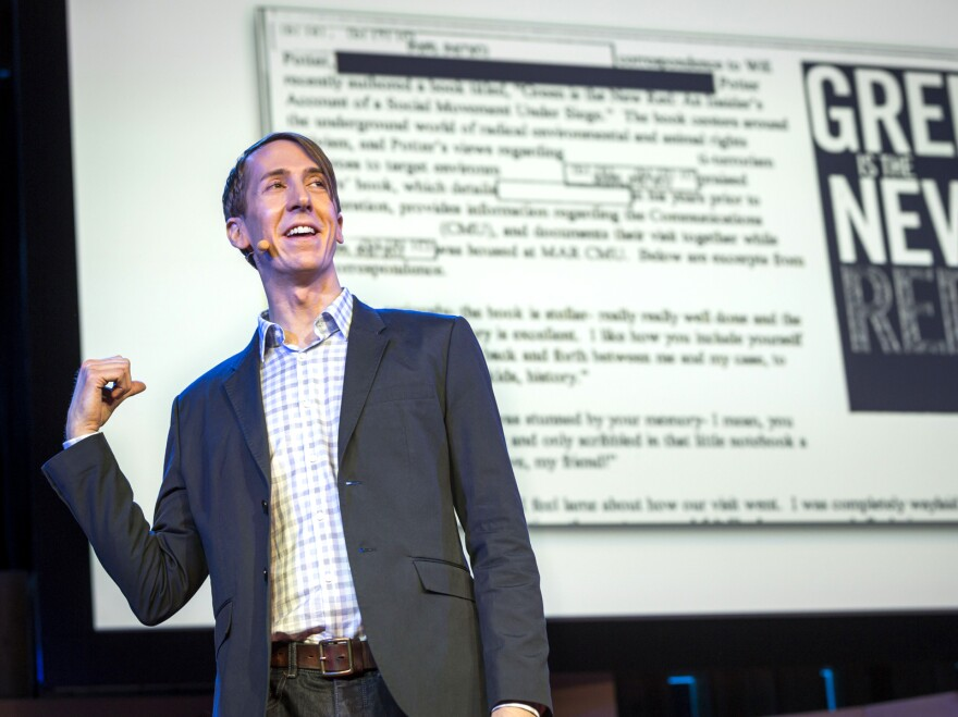 Will Potter speaks during a TED Fellows Talk in March, at the Vancouver Convention Center, Vancouver, B.C.