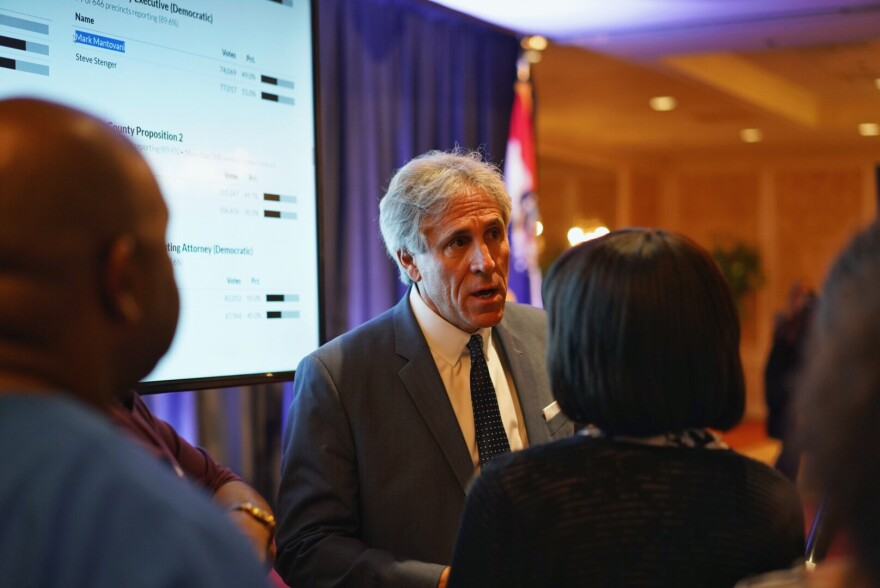 St. Louis County executive candidate Mark Mantovani was defeated by incumbenon Tuesday by about 1,100 votes. Mantovani has not yet decided whether to seek a recount, Aug. 8, 2018