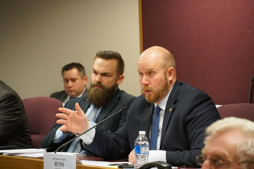 State Rep. Robert Ross, R-Yukon, speaks during a House Special Committee on Government Oversight hearing.