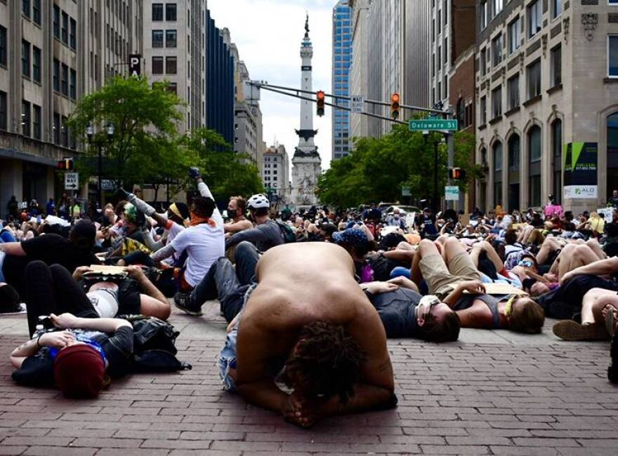 Hundreds gathered in downtown Indianapolis to protest racial injustices. And though health issues aren't a focus of street protests, some experts say they contribute to the unrest.