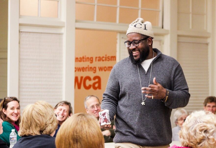 Director of Cultural Diversity and Community Outreach at YWCA Ron Scott Jr. leads a discussion about diversity in Wheeling.