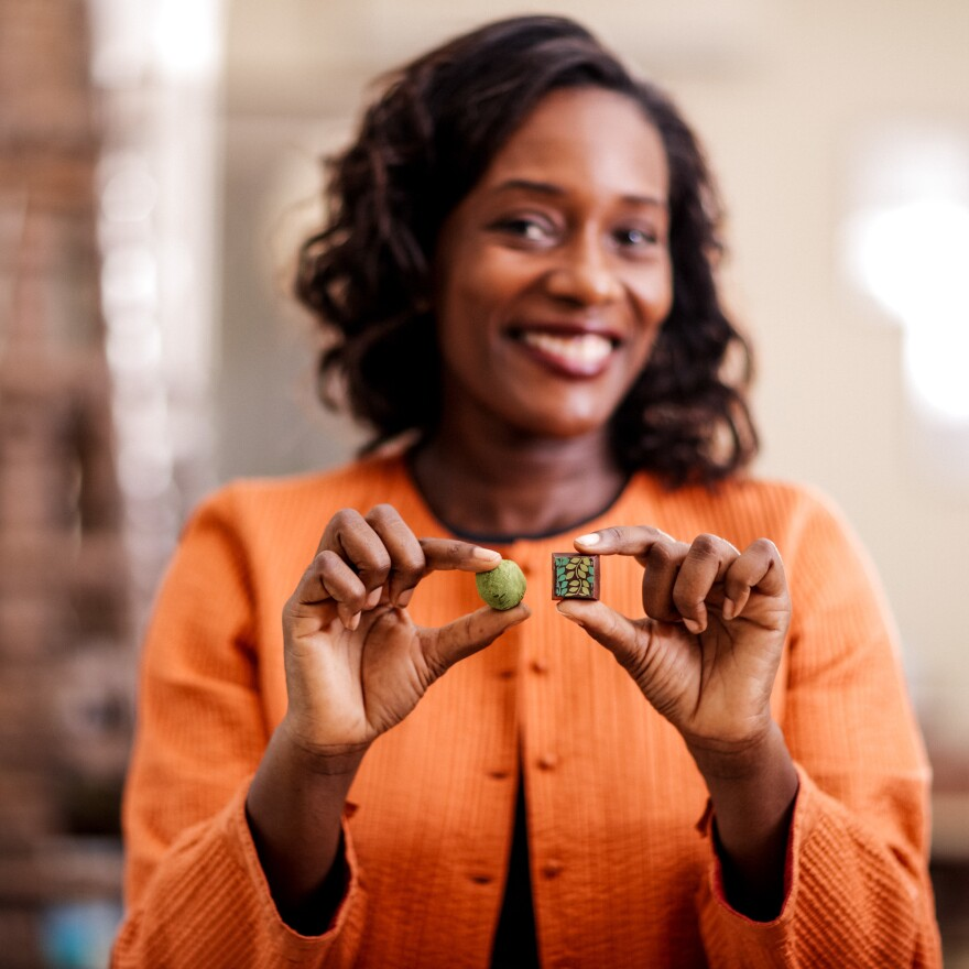 """Selassie Atadika, owner of Midunu Chocolates, says she likes to use African spices in chocolate because its """"a way to introduce people to our flavor profiles in an easy format."""""""