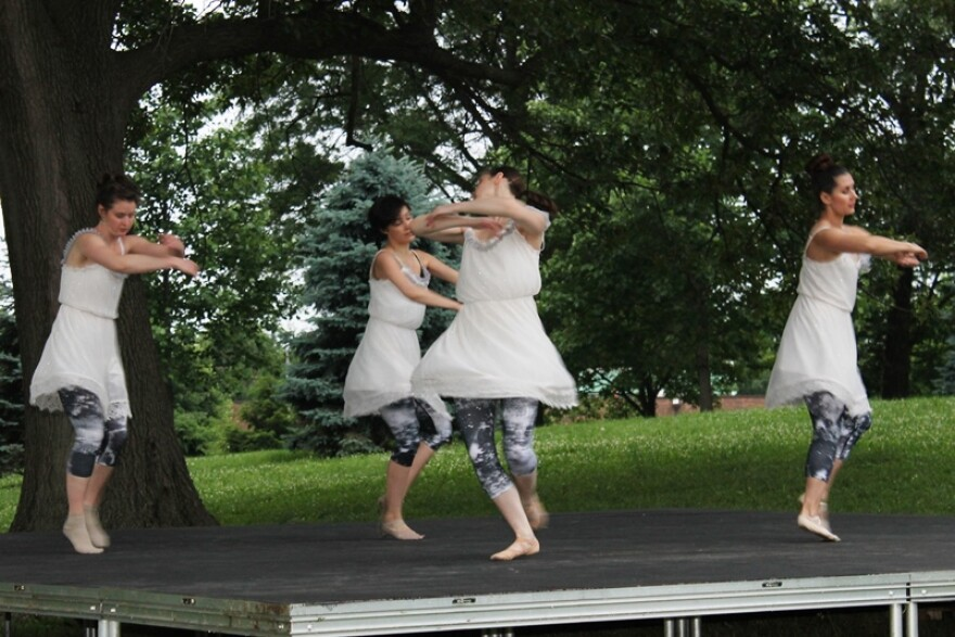 Leverage Dance Theater on the House Stage at Shakespeare Festival in Forest Park