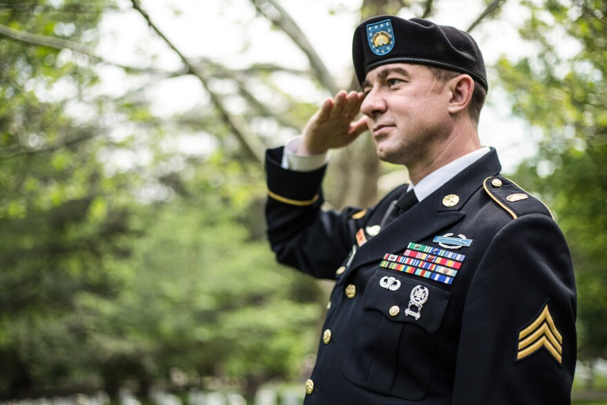 Sgt. Nick Harrison with the Army National Guard is one of several service members suing the military for it's policies that say personnel living with HIV cannot deploy or commission as officers.