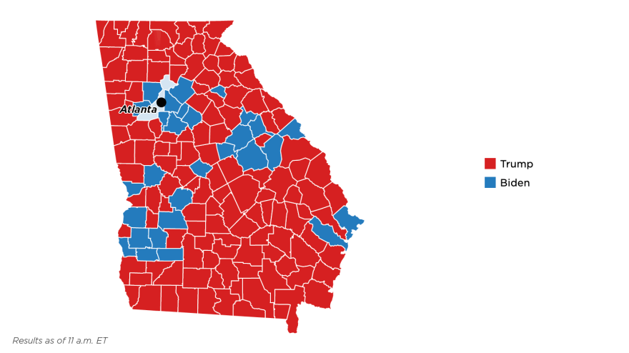 Georgia election results by county