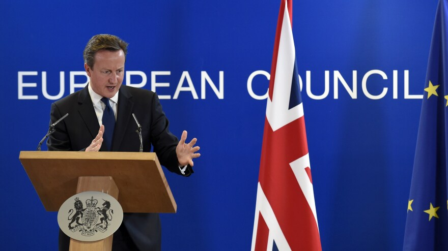 """On the sidelines of the EU summit in Brussels, U.K. Prime Minister David Cameron said the choice of Jean-Claude Juncker to head the European Commission marks """"a bad day for Europe."""""""