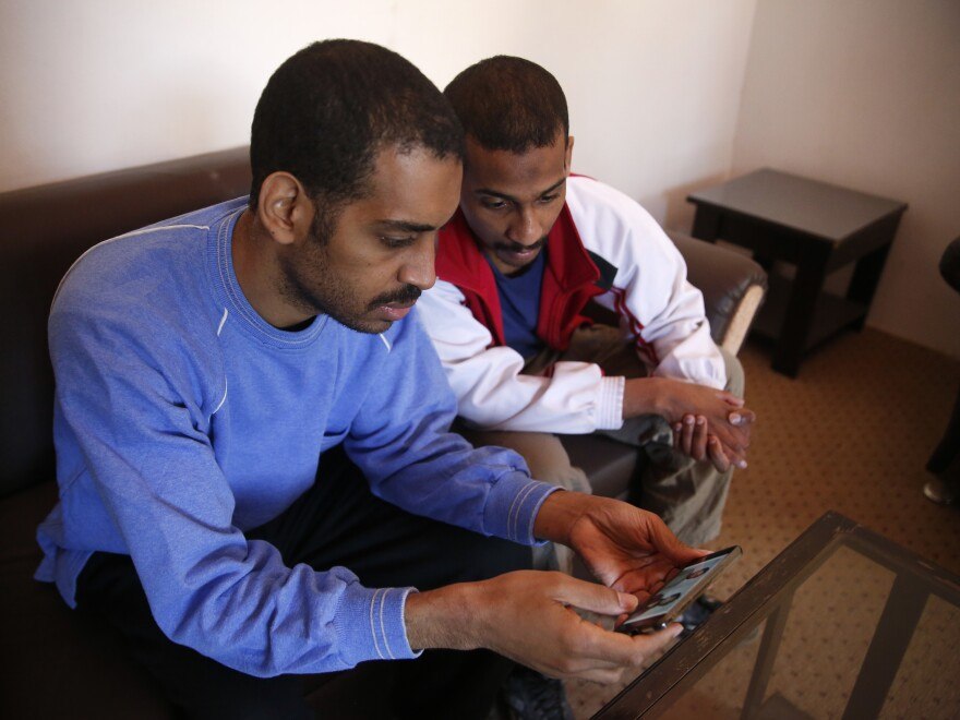 """Alexanda Kotey, left, and El Shafee Elsheikh were indicted Wednesday on eight counts. The ISIS militants are accused of being part of an ISIS cell dubbed """"the Beatles"""" in the killings of four American hostages and others."""