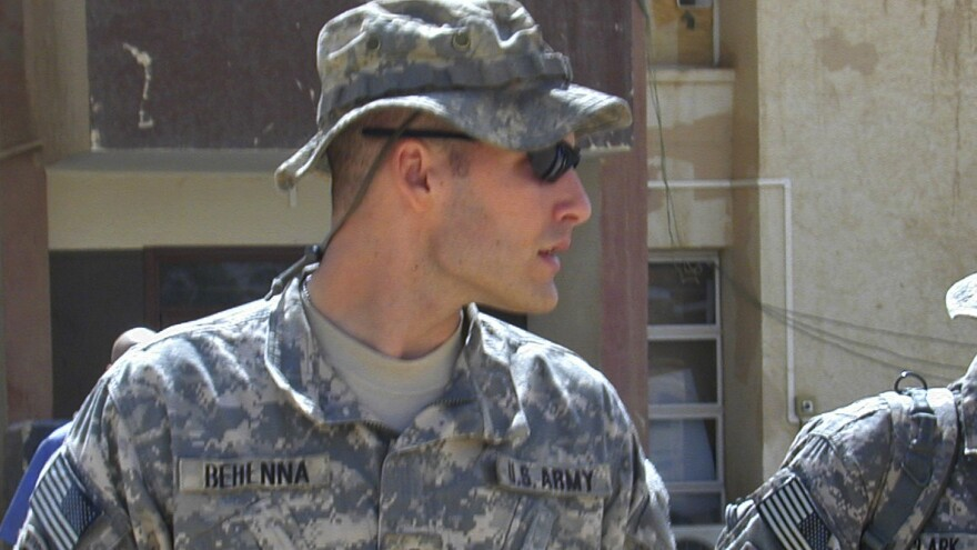 Former 1st Lt. Michael Behenna, seen here in 2008, has received a presidential pardon for his 2009 conviction in the killing of an Iraqi detainee.