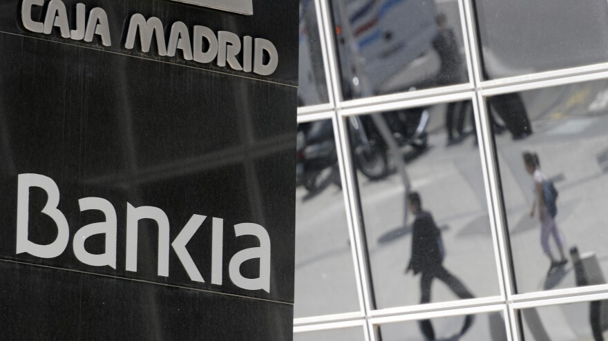 "The Spanish bank Bankia in Madrid has asked the government to inject $24 billion.  The European Commission is proposing a ""banking union"" to help eurozone governments rescue banks."
