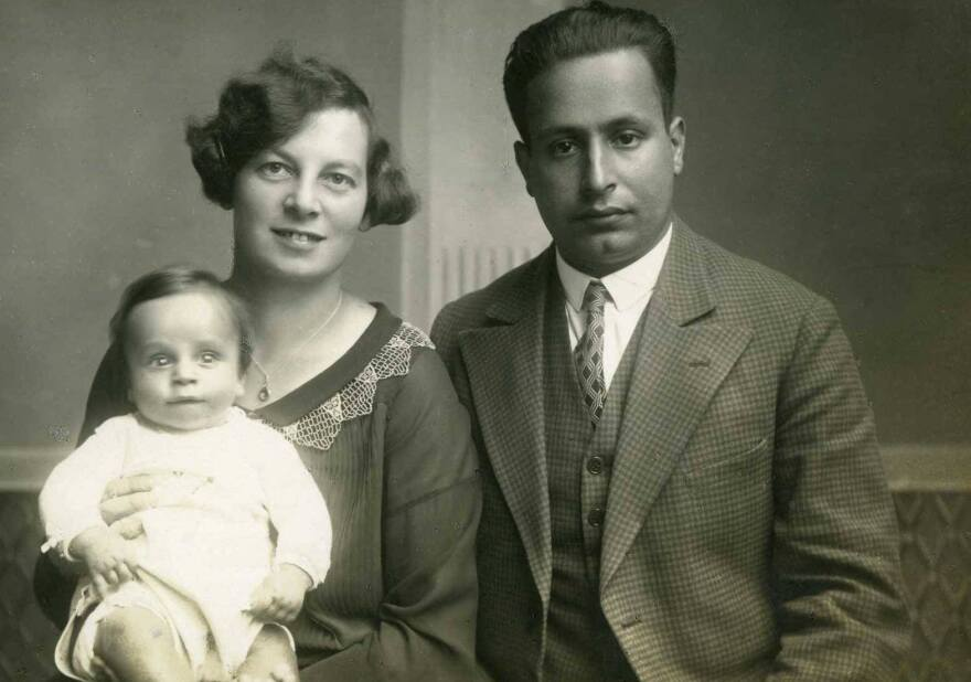 John Fieldsend's mother, Trude, and father, Curt, with his older brother in Dresden, Germany, around 1928.
