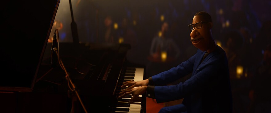 In <em>Soul, </em>Joe Gardner is a middle-school band teacher whose true passion is playing jazz<em>.</em> Musician Jon Batiste wrote original music and performed it for the Pixar film, which animated his fingers playing the piano.