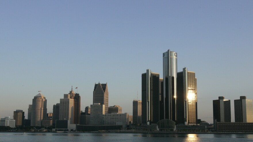 The Detroit skyline seen from Windsor, Ontario. The two cities are connected by more than just a bridge.