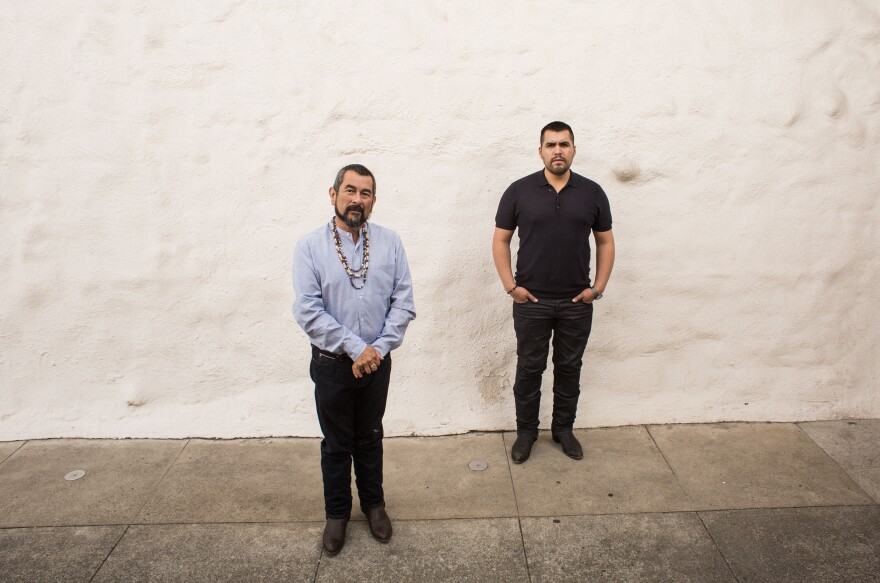 Andrew Galvan, director of Mission Dolores, has been fighting for Junipero Serra's sainthood for as long as assistant curator, Vincent Medina, has been alive. Medina doesn't think Serra deserves that promotion.