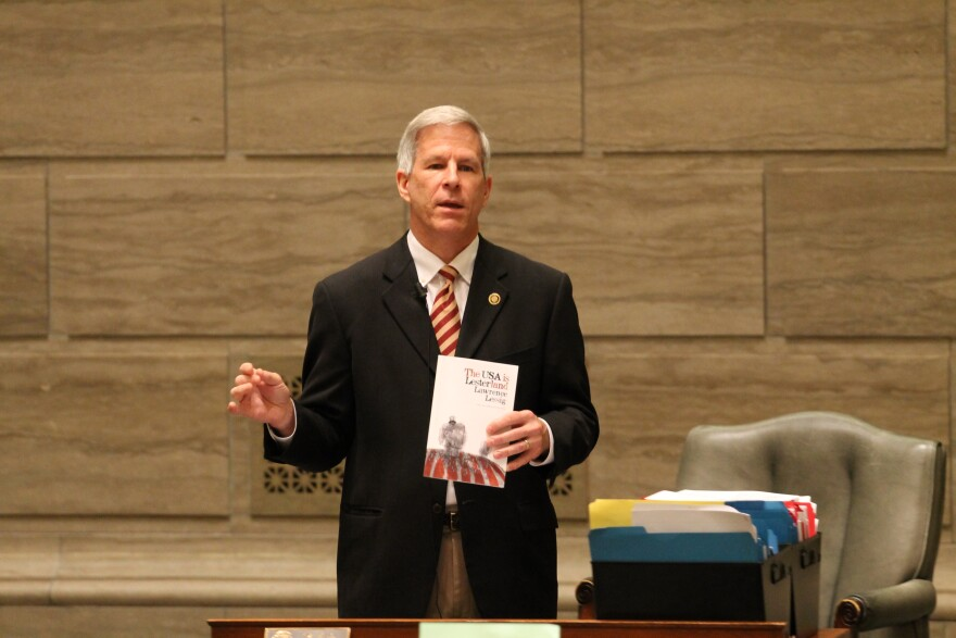 Sen. Rob Schaaf, R-St. Joseph, is one of six lawmakers who is suing to stop Gov. Jay Nixon from extending bonds for a new stadium by fiat.