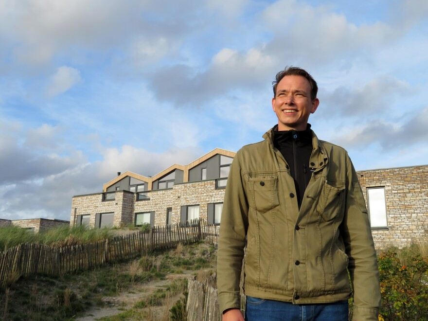 """Jos Hartman, an architect at the Duin development near Amsterdam, says Duin is """"a pilot project testing if people like living on artificial dunes that elevate the land,"""" he says. """"So far, it's a success.""""<strong> </strong>"""