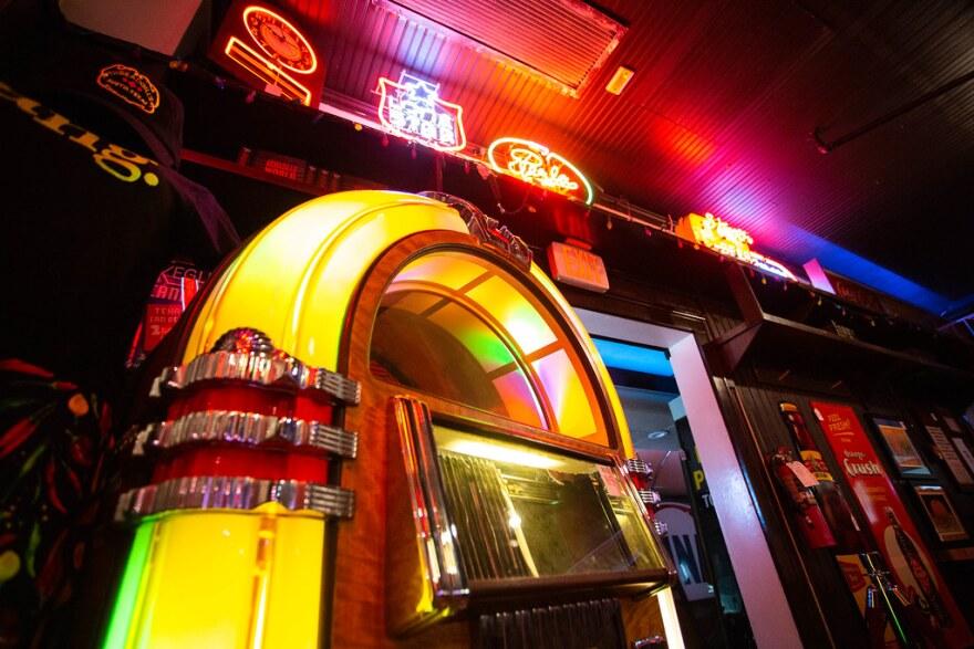 A jukebox at Threadgill's.