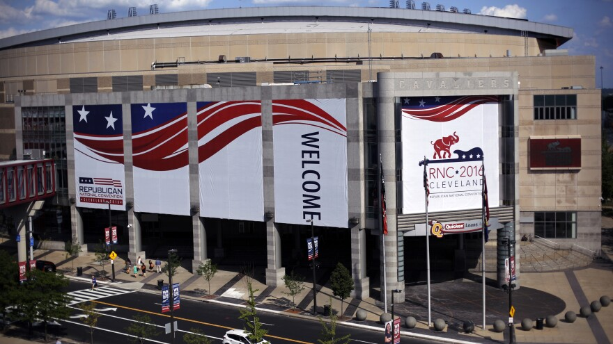 The Quicken Loans Arena in downtown Cleveland is preparing for the Republican convention, featuring Donald Trump, Peter Thiel ... and Andy Wist.