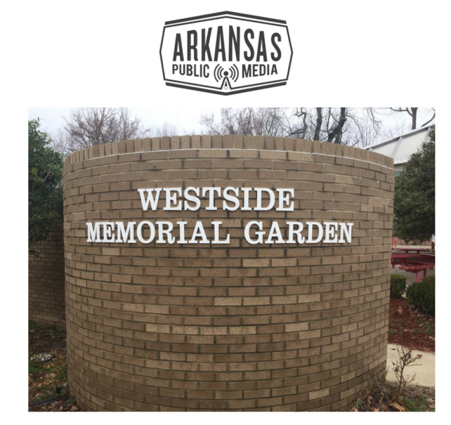 A memorial garden at Westside Middle School honors the victims of the massacre on March 24, 1998