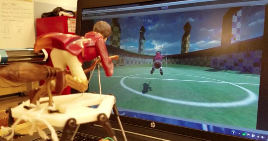 Playing virtual Quidditch