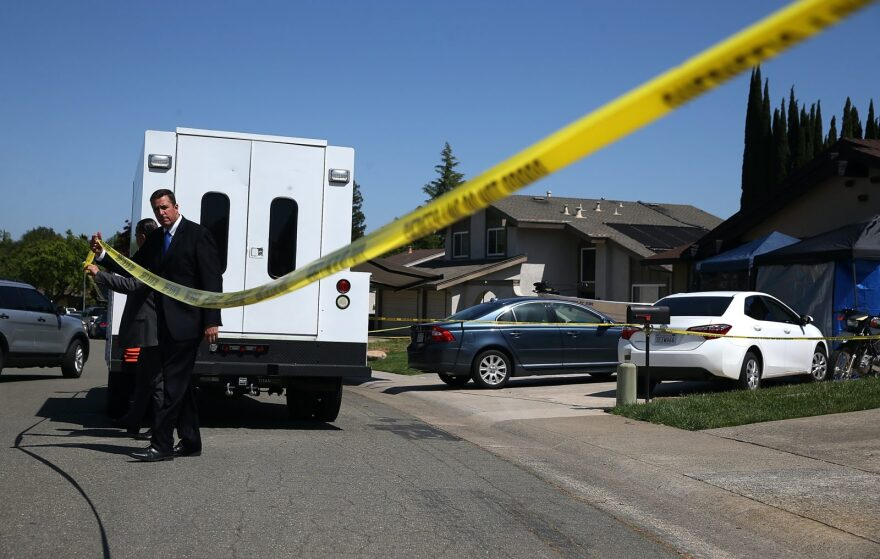 Law enforcement officials leave the home of accused rapist and killer Joseph James DeAngelo, otherwise known as the Golden State Killer in Citrus Heights, California. The Golden State Killer provided fodder for true crime aficionados around the world, but in the wake of civil unrest after the police killing of George Floyd, many are wondering whether the crime genre needs a reboot.