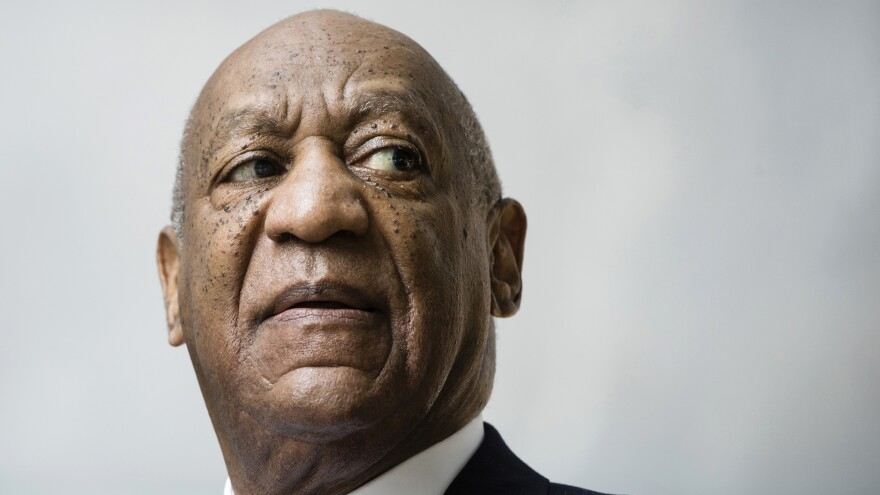 Bill Cosby leaves a pretrial hearing in a sexual assault case at the Montgomery County Courthouse in Norristown, Pa., on Aug. 22.