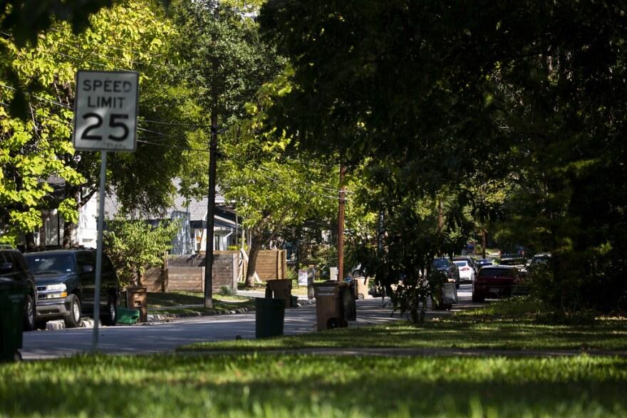 A neighborhood in North Austin.