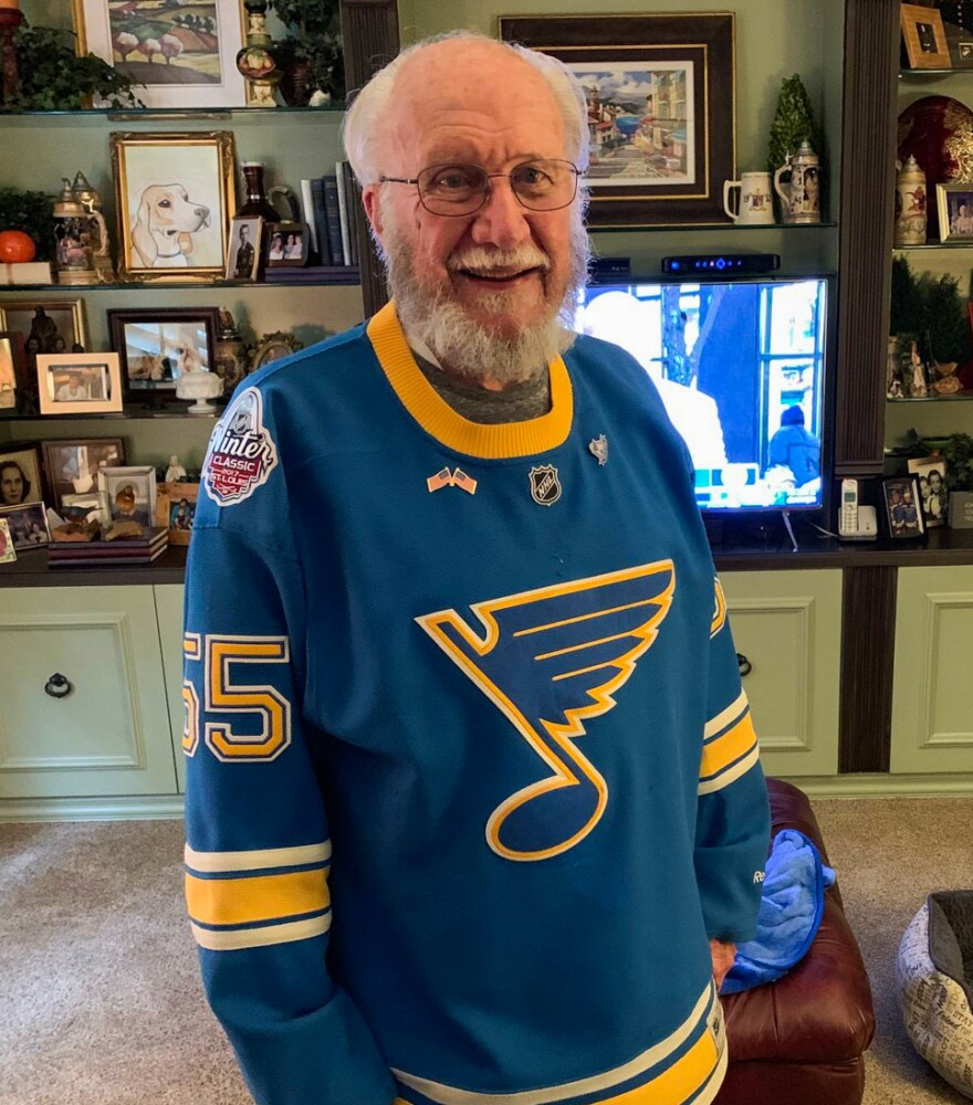 John Oefelein used to recruiting referees in the St. Louis area. He's purchased season tickets every year of the St. Louis Blues' existence.