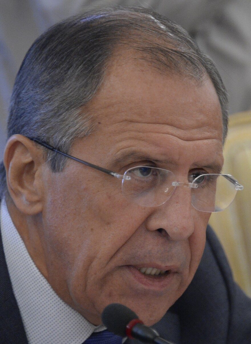 Russian Foreign Minister Sergei Lavrov said Moscow will provide the U.N. Security Council evidence implicated Syrian rebels in a chemical attack.