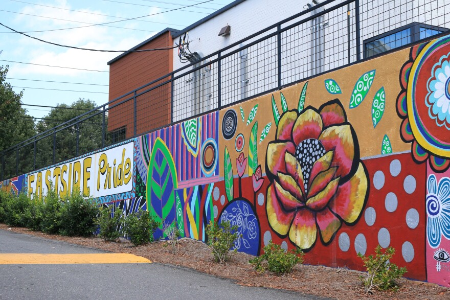 "The ""East Side Pride"" mural, seen here Sept. 3, 2020, sits at the southwest intersection of Central Avenue and Eastway Drive in Charlotte."