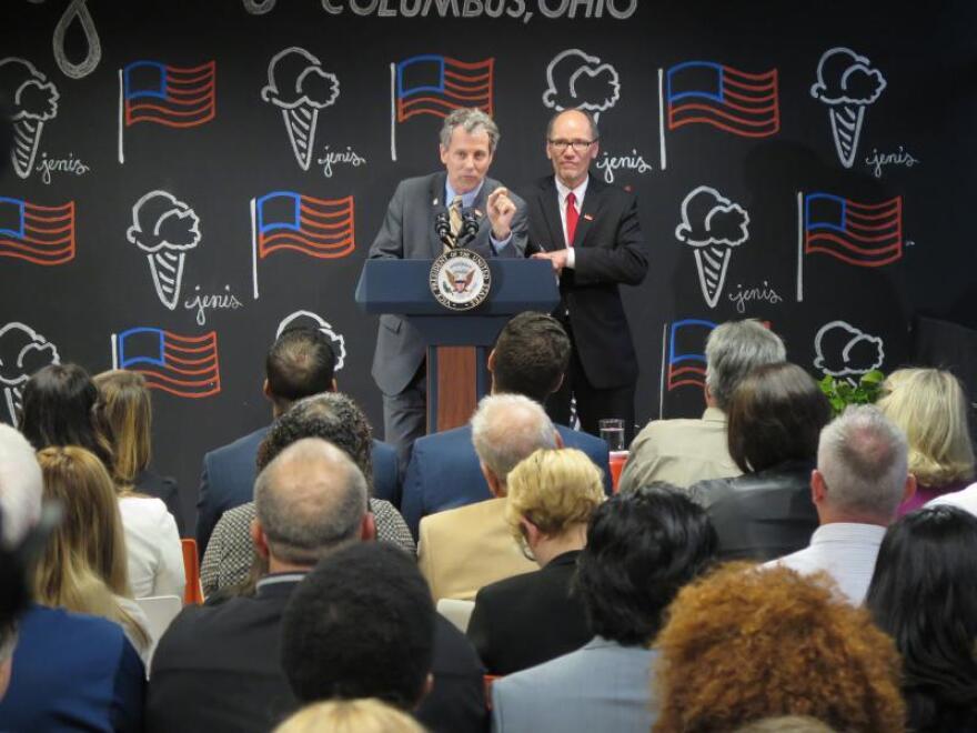 photo of Sherrod Brown and Tom Perez