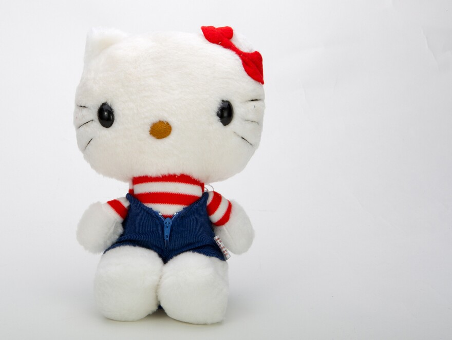 Hello Kitty got her start 40 years ago, in 1974. A plush doll from 1976 shows her in her early years.