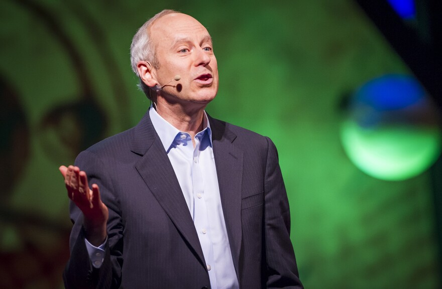 Harvard's Michael Sandel, pictured here during a 2013 TED Conference in Scotland, joined Tuesday's talk show.