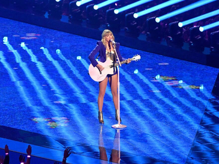 Taylor Swift, performing during the 2019 MTV Video Music Awards in August in Newark, New Jersey.