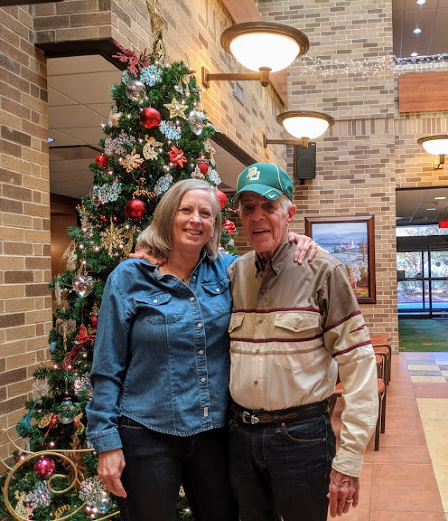 Cindy and Bud Frazier are members of the Grace Notes Community Choir. Cindy, a caregiver for her husband, says joining the group has saved her life.
